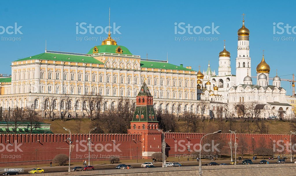 Kremlin embankment stock photo