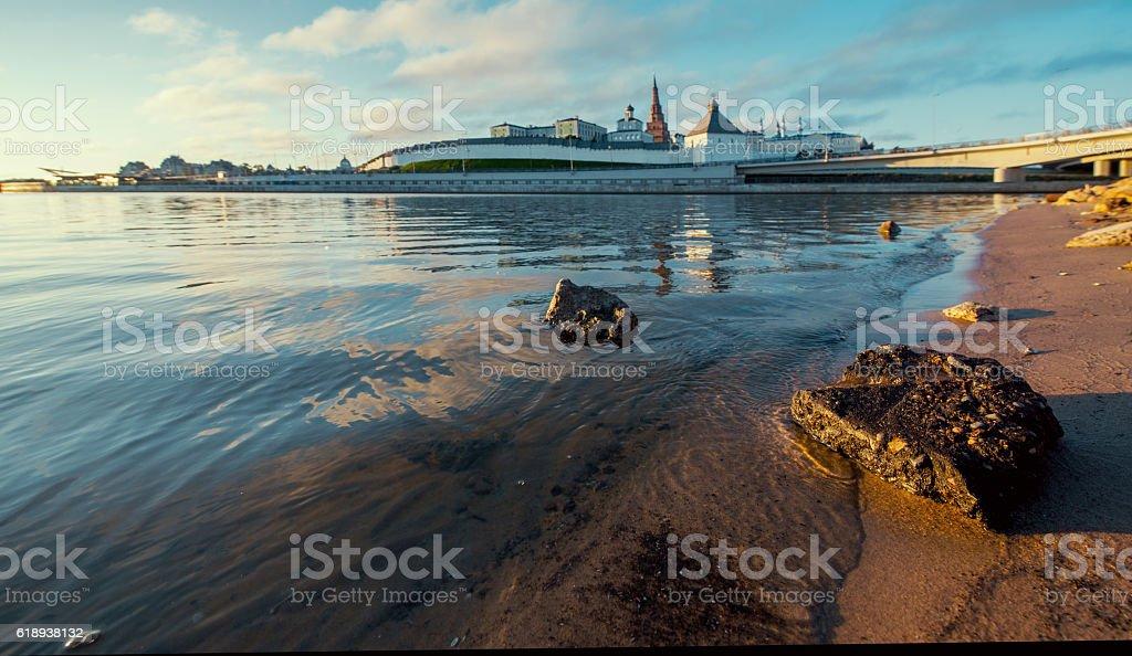 Kremlin in Kazan town. Russia stock photo