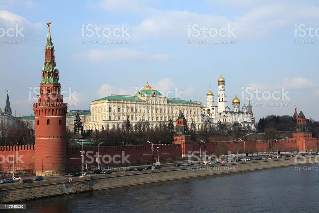Kremlin in Moscow royalty-free stock photo
