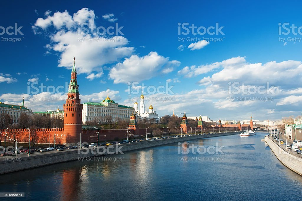 Kremlin in Moscow stock photo