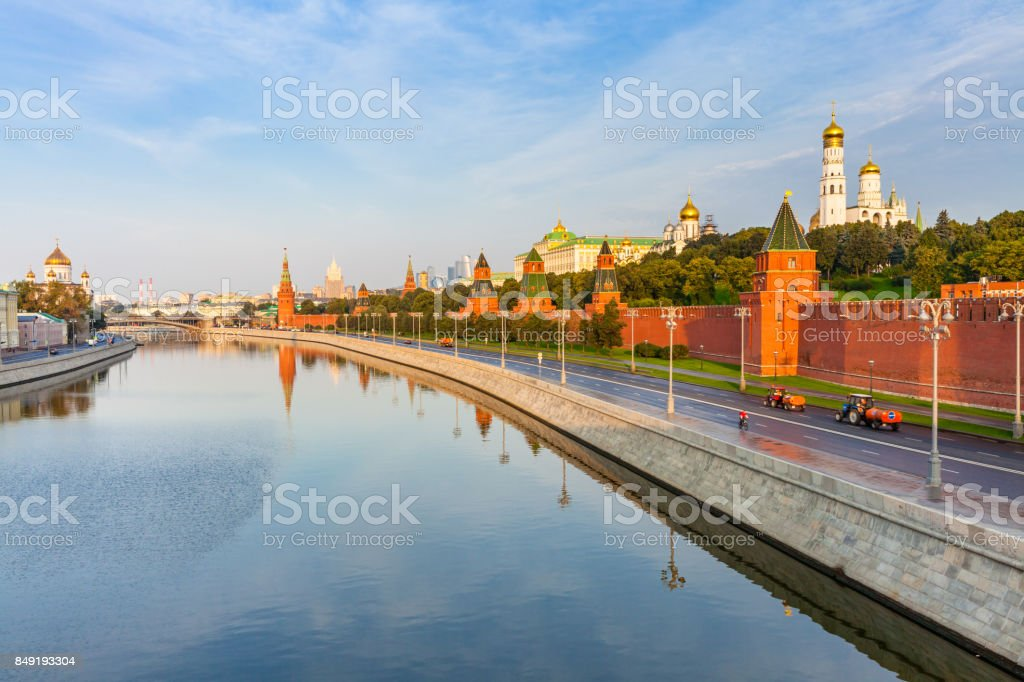 Kremlin in the morning, Moscow, Russia stock photo