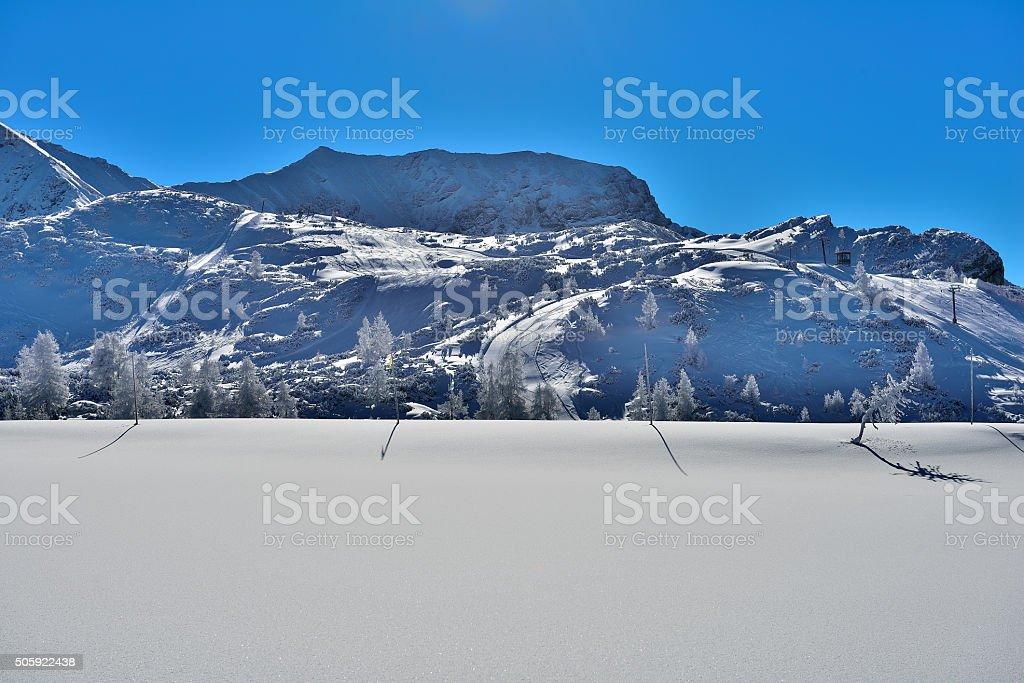 Kreuzspitze 2327m stock photo