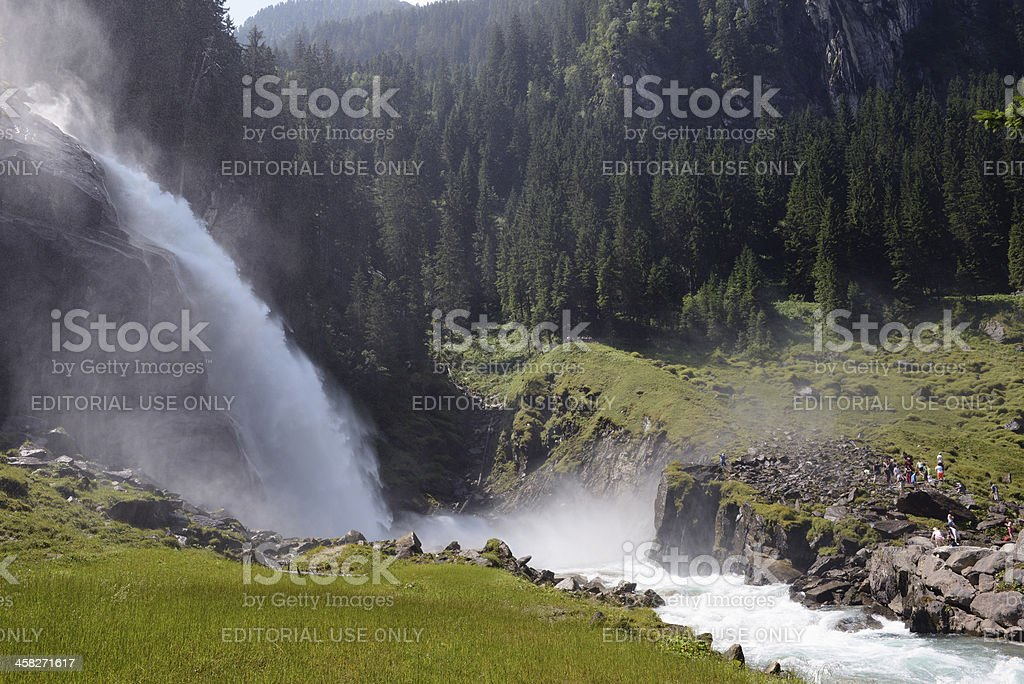 Krimml Waterfalls in Austria royalty-free stock photo