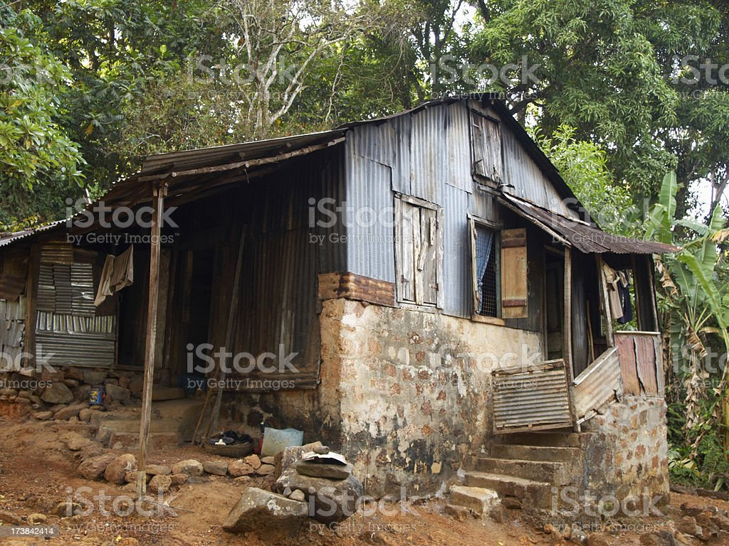Krio House - Sierra Leone royalty-free stock photo