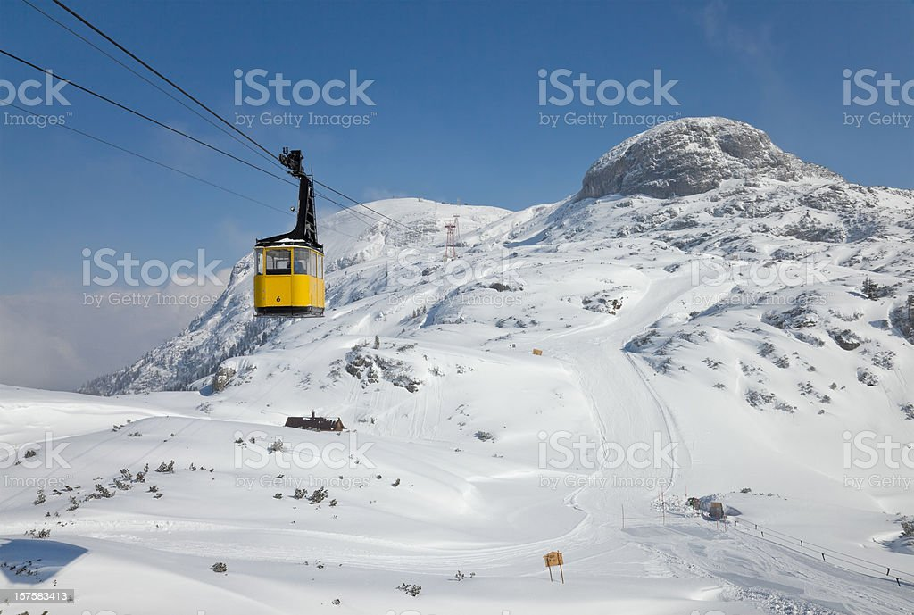 Krippenstein cable car, Austria royalty-free stock photo