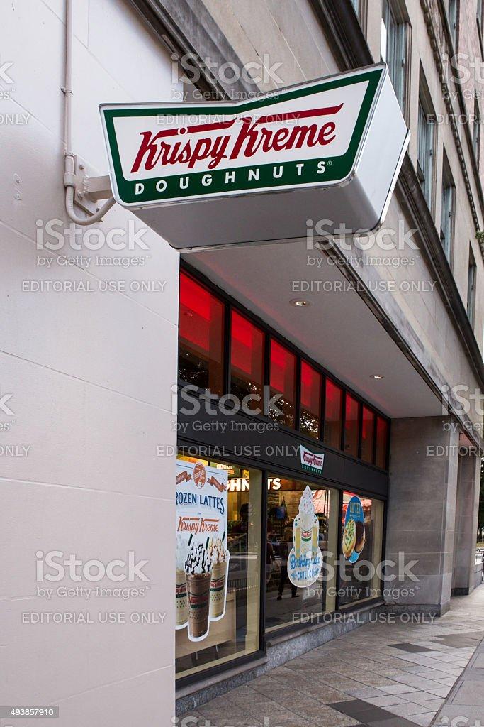 Krispy Kreme Doughnut Storefront stock photo
