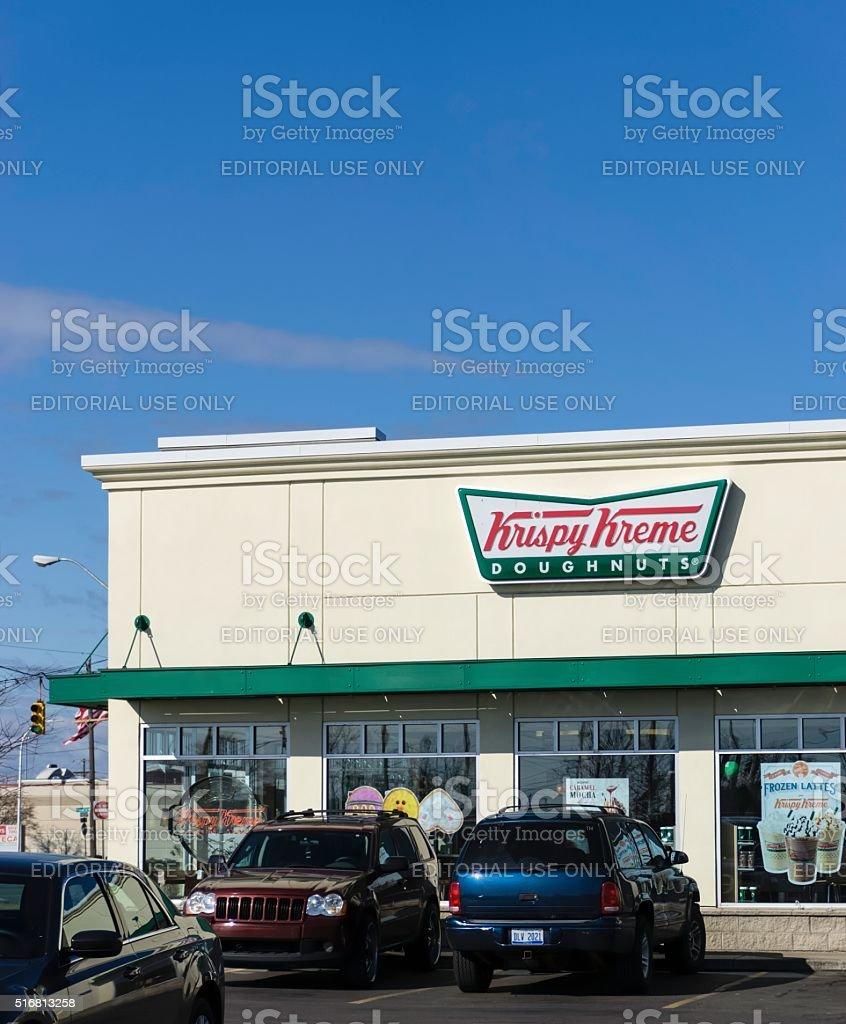 Krispy Kreme Doughnuts stock photo