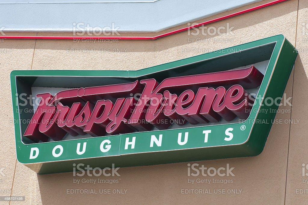Krispy Kreme Doughnuts Store Sign stock photo