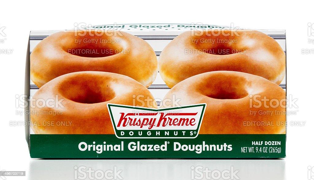 Krispy Kreme original glazed doughnuts stock photo