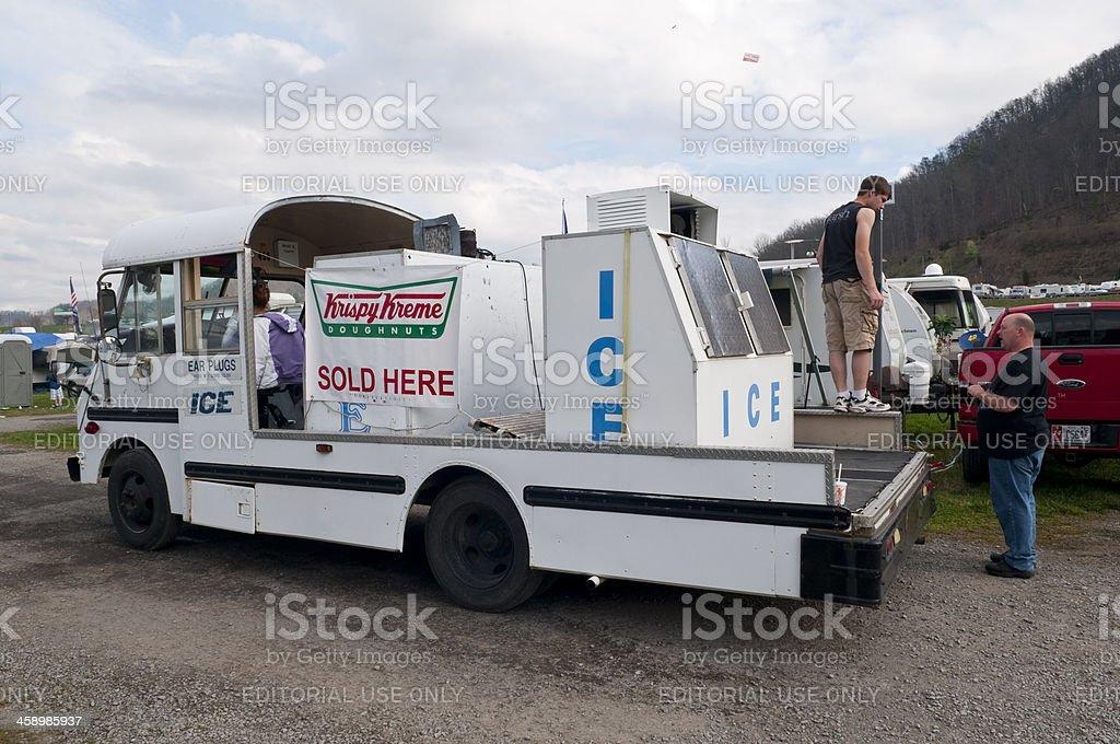 Krispy Kreme sold here stock photo