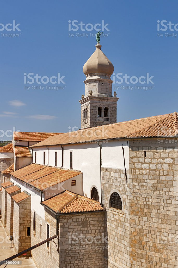 Krk Cathedral royalty-free stock photo