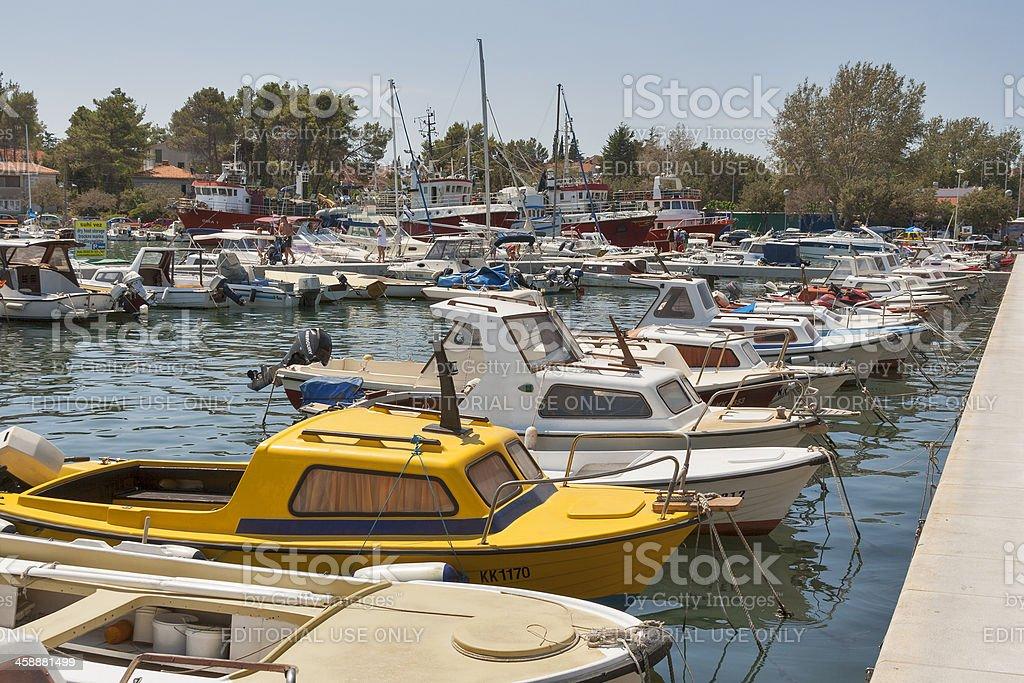 Krk marina royalty-free stock photo