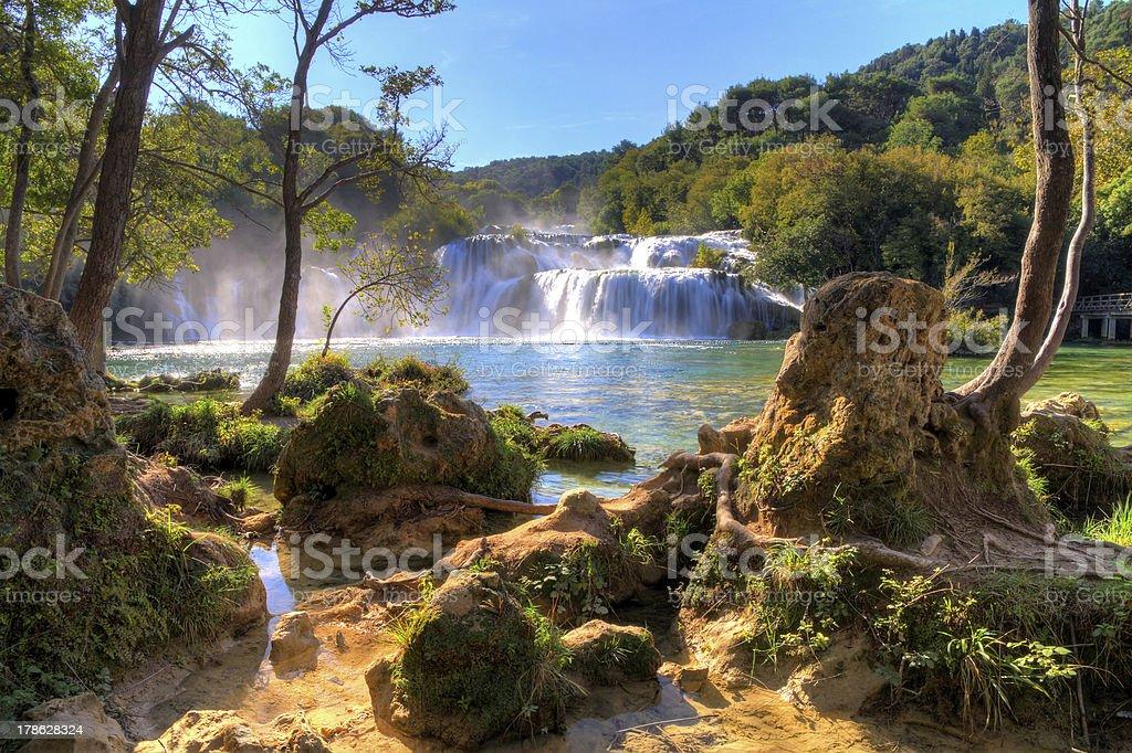 Krka falls stock photo