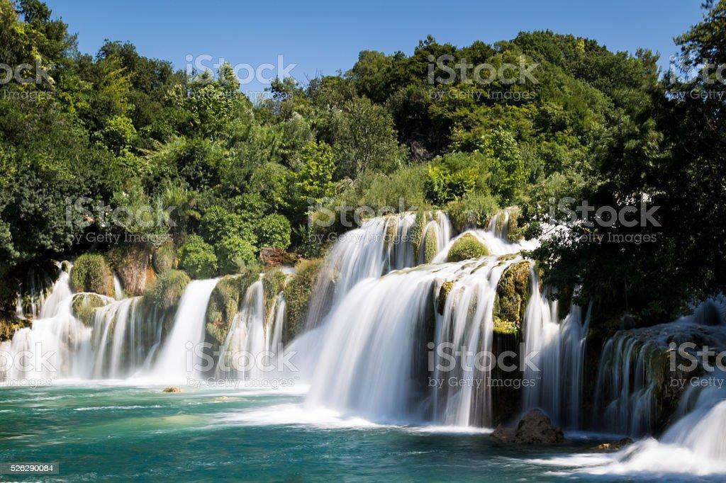 Krka National Park Waterfall stock photo