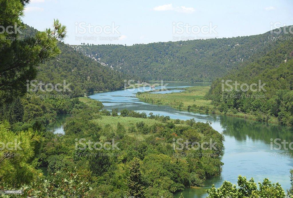 Krka river in Sibenik-kin stock photo