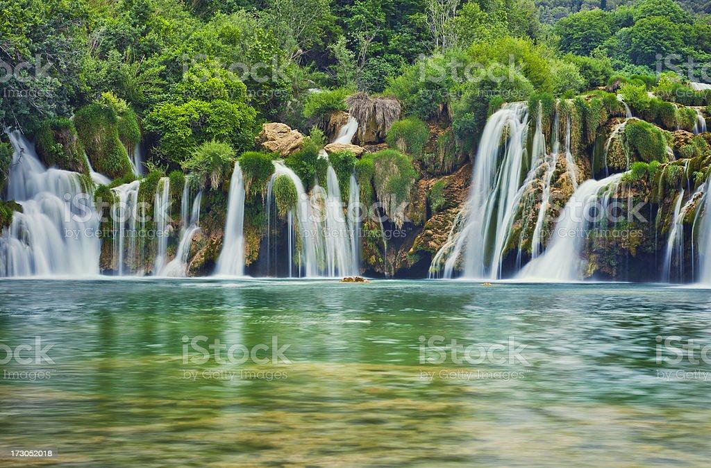 Krka river waterfalls stock photo