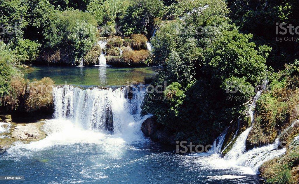 Krka waterfalls stock photo