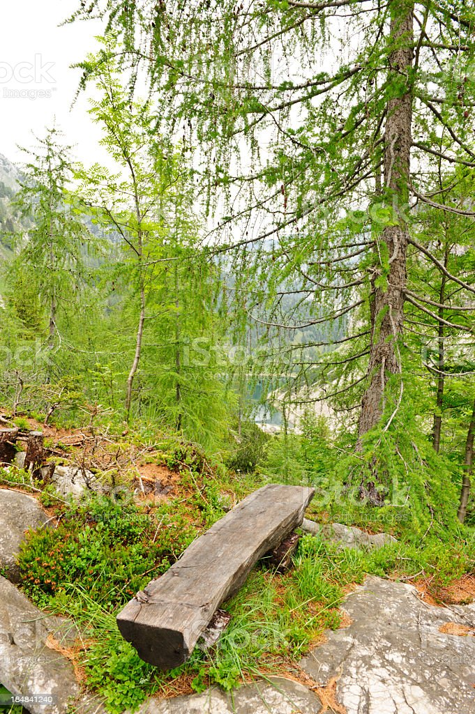 Krn lake from distance stock photo