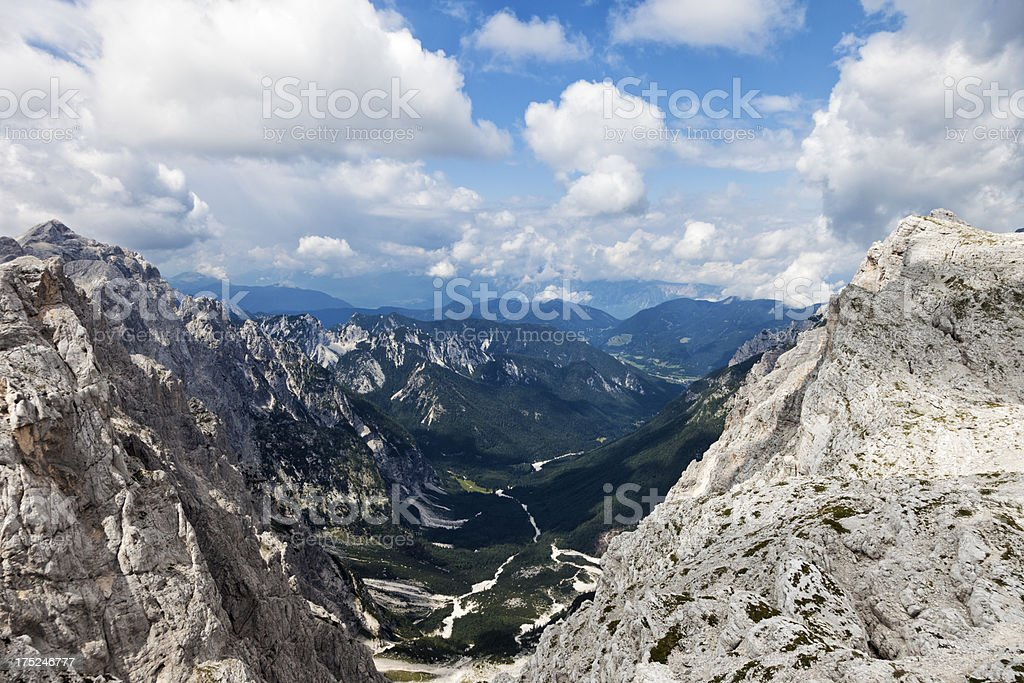 Krnica valley stock photo