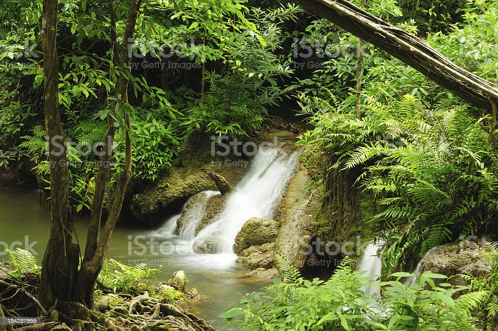 Kroeng Kra Via Waterfall, Kanchanaburi, Thailand royalty-free stock photo