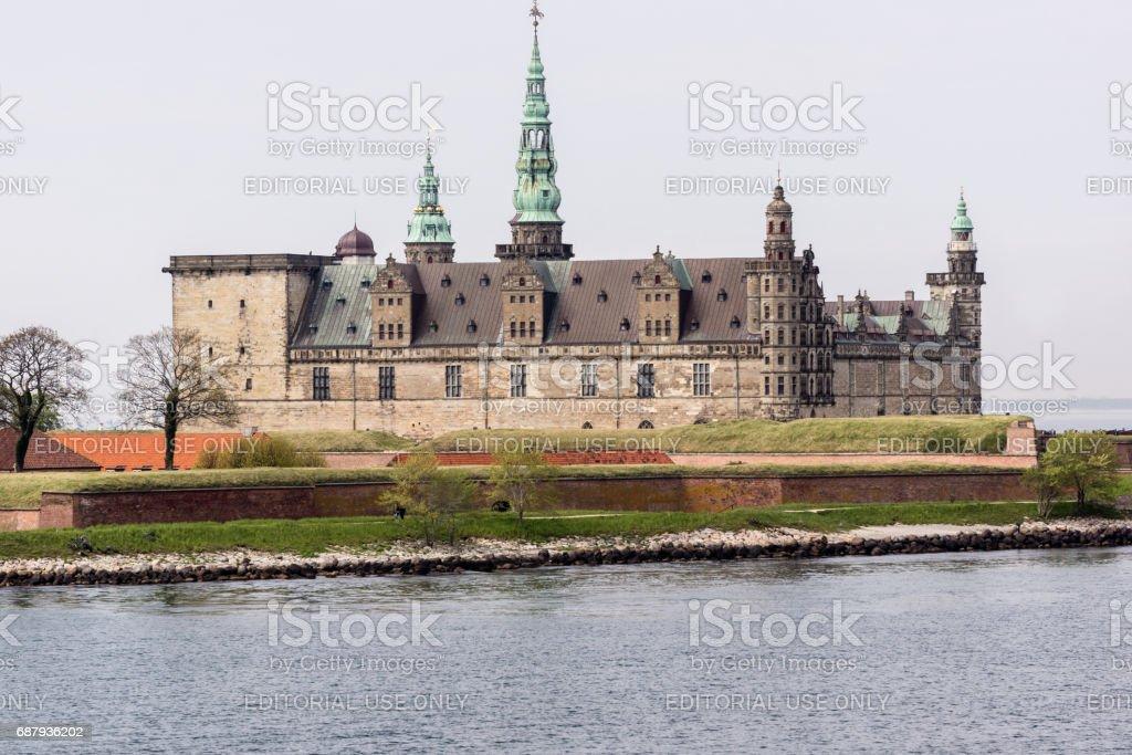 Kronborg castle in Elsinore, from the seaside stock photo