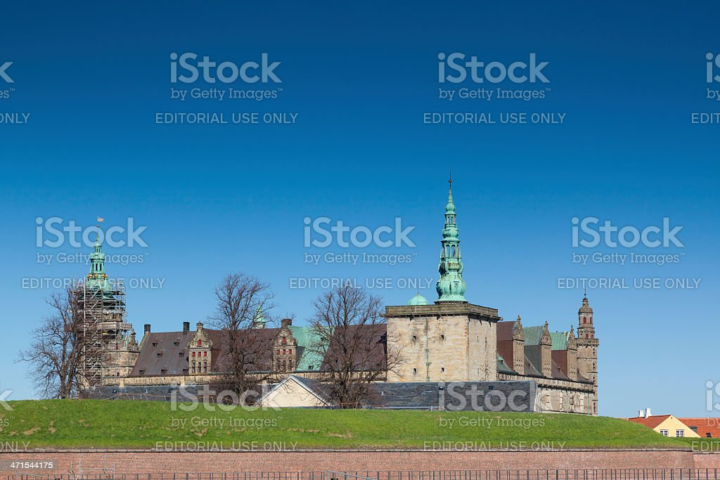 Kronborg Castle in Helsingor Denmark royalty-free stock photo