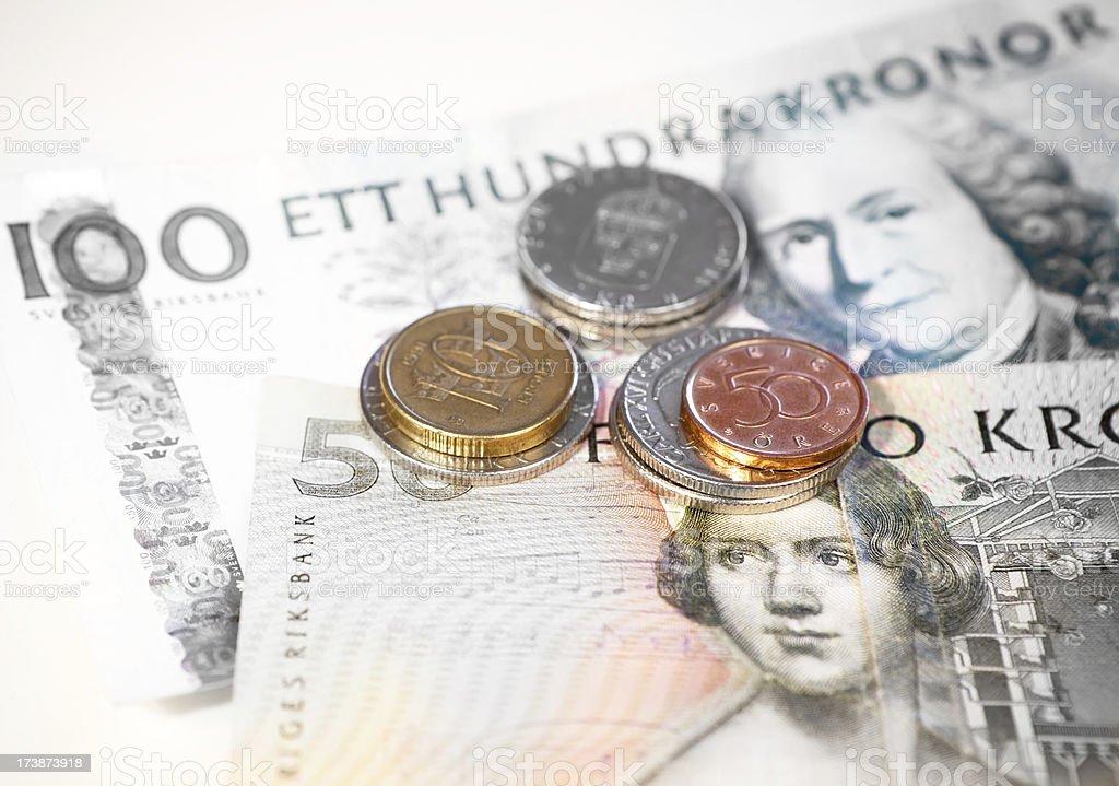 Kronor, Swedish Money royalty-free stock photo
