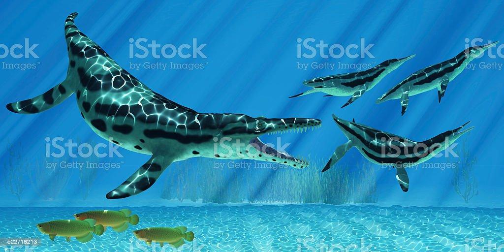 Kronosaurus Marine Reptile stock photo