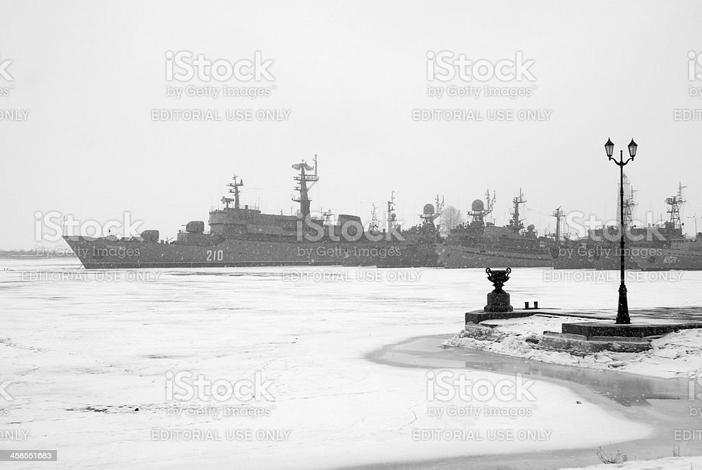 Base navale de Kronstadt stock photo