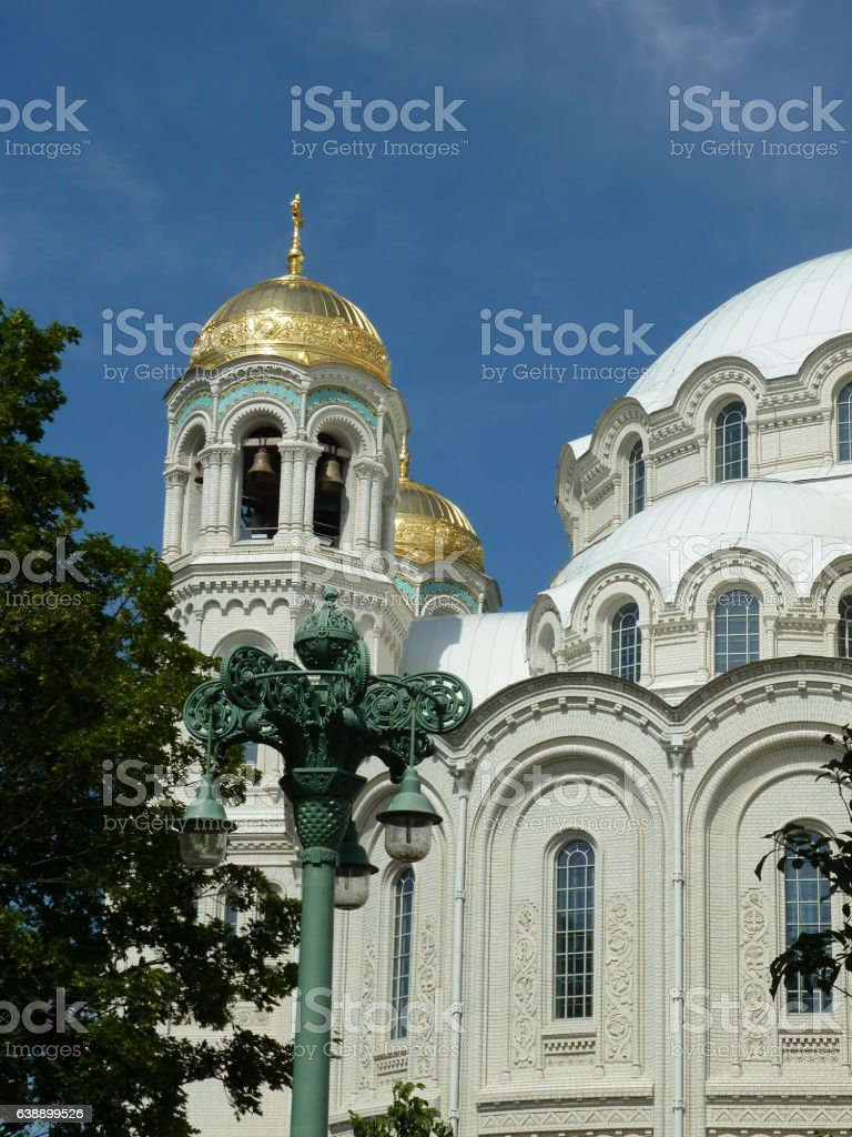 Kronstadt, The Naval cathedral of Saint Nicholas stock photo