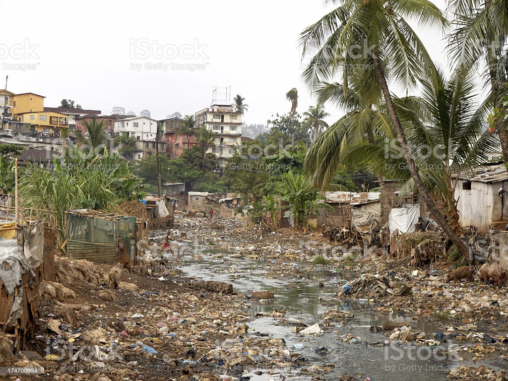 Kroo Bay - Freetown Slum stock photo