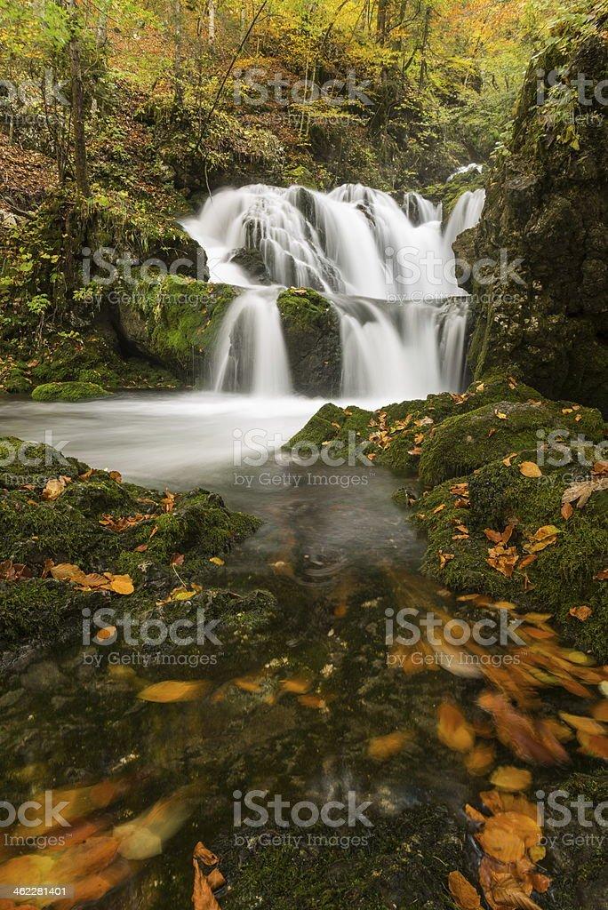 Kropa cascades royalty-free stock photo