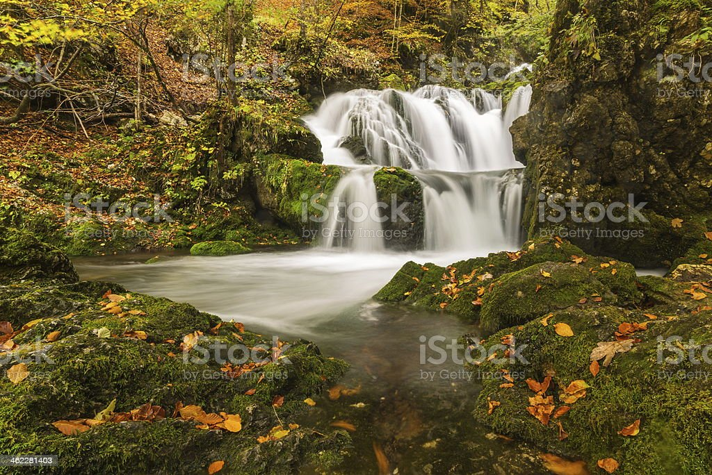 Kropa cascades royalty-free stock photo