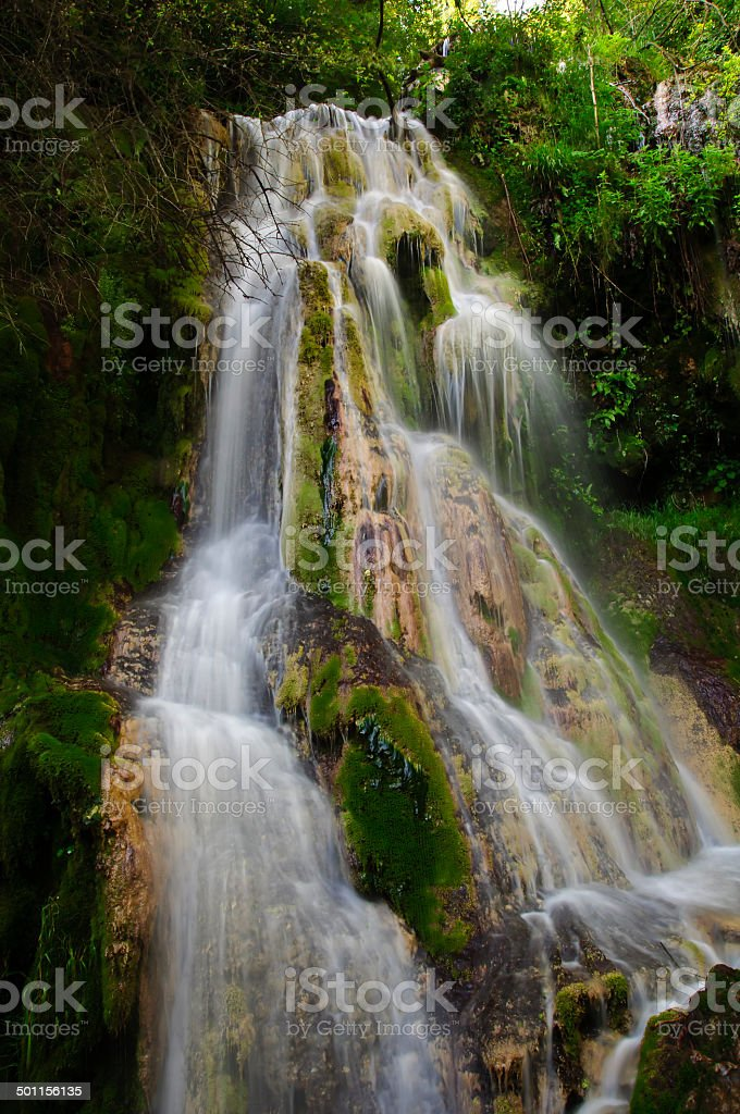 Kroshunski waterfall during the day royalty-free stock photo