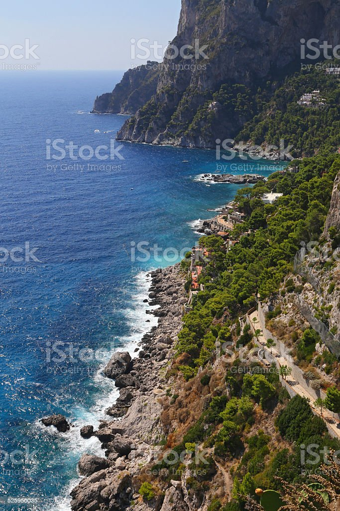 Krupp street in Capri, Italy stock photo