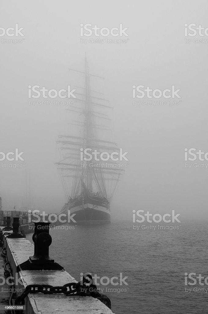 Krusenstern barque stock photo