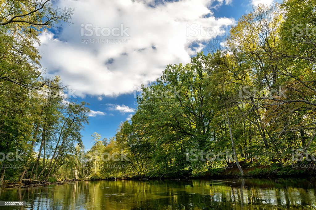 Krutynia in Masuria stock photo