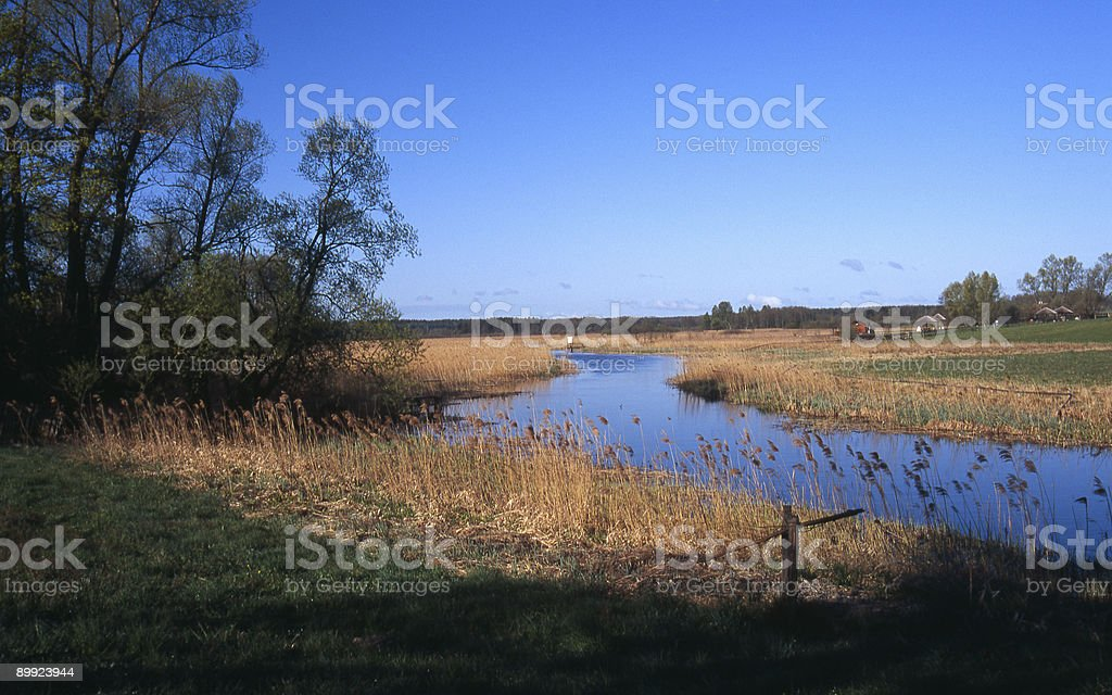 Krutynia River in early morning royalty-free stock photo