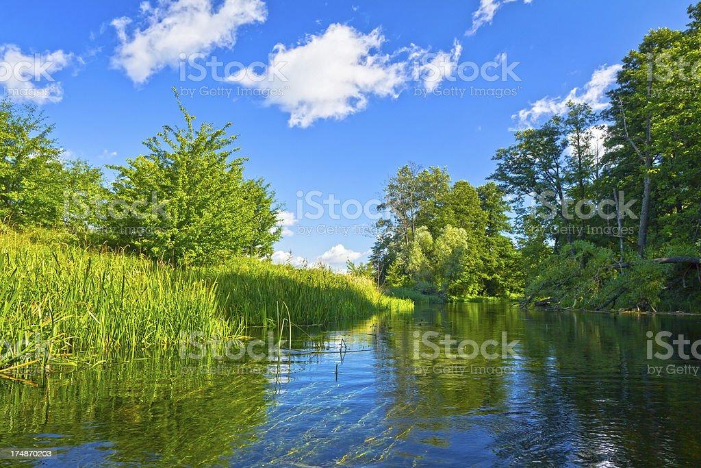 Krutynia river, Masuria regoin, Poland royalty-free stock photo