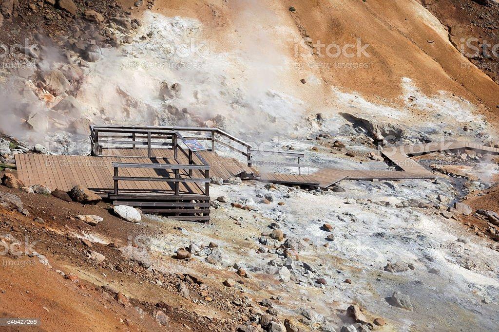 Krysuvik geothermal area, Iceland stock photo