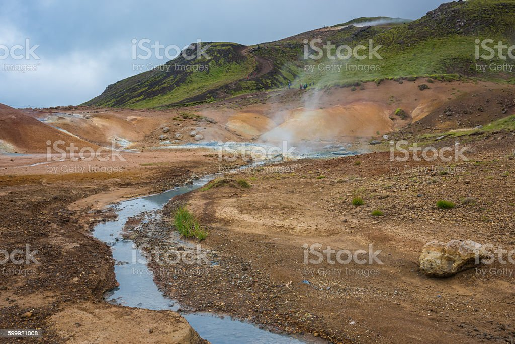 Krysuvik  geothermal area, Iceland stock photo