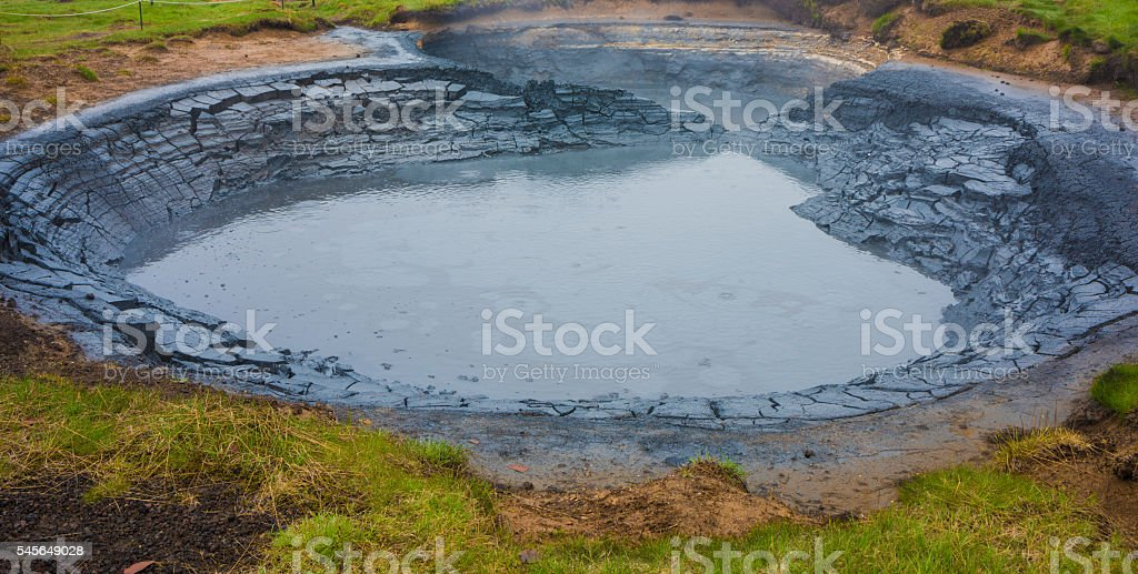 Krysuvik mud pool, Iceland stock photo