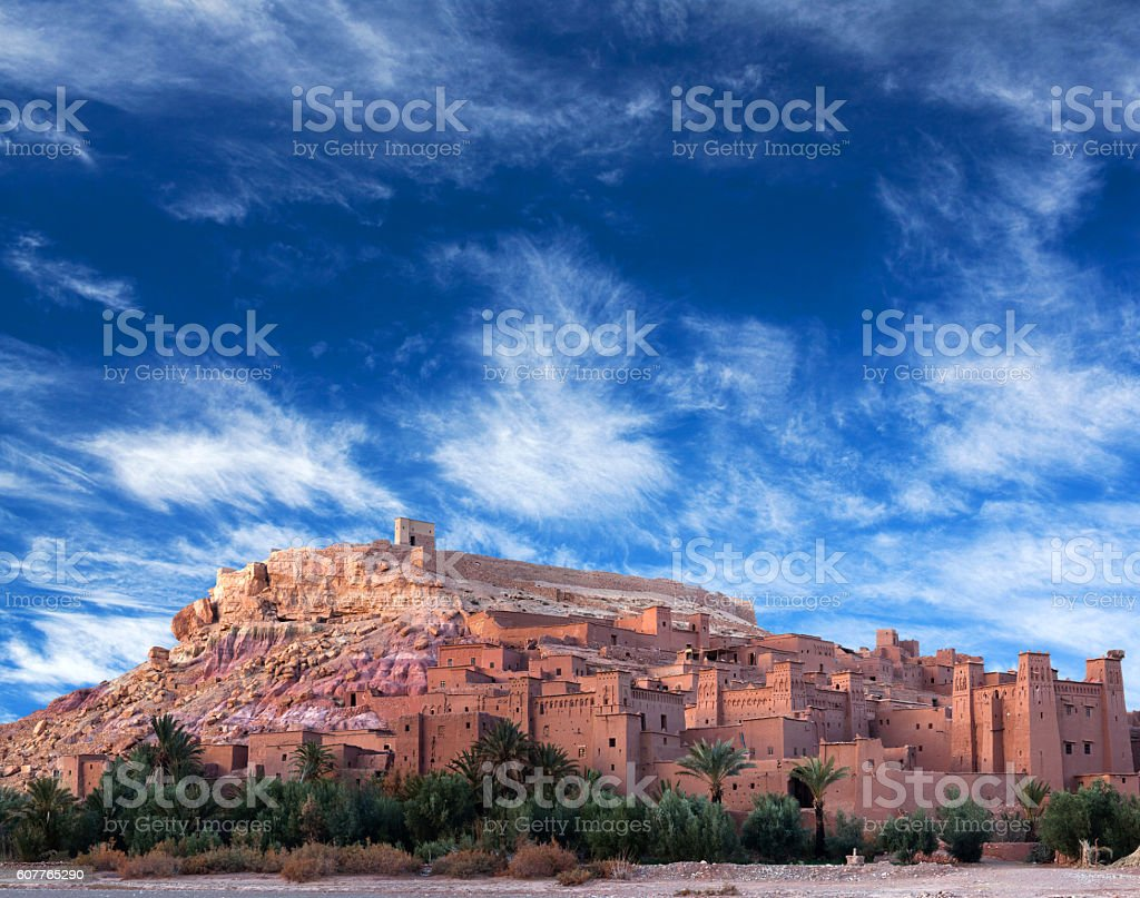 Ksar Ait Benhaddou in Morocco stock photo