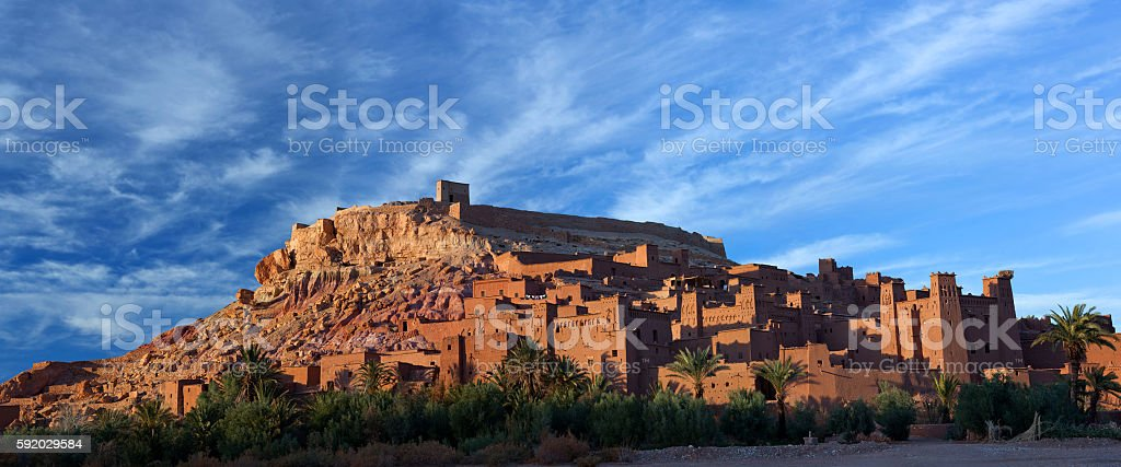 Ksar Ait Benhaddou near Ouarzazate in Morocco, Africa stock photo