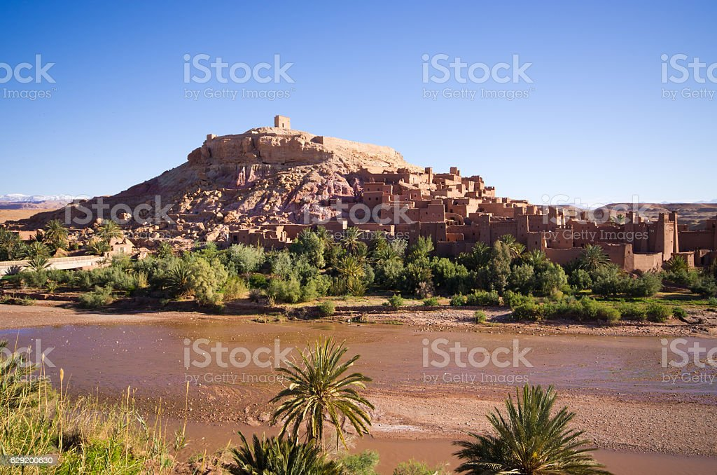 Ksar Ajt Bin Haddu in Morocco stock photo