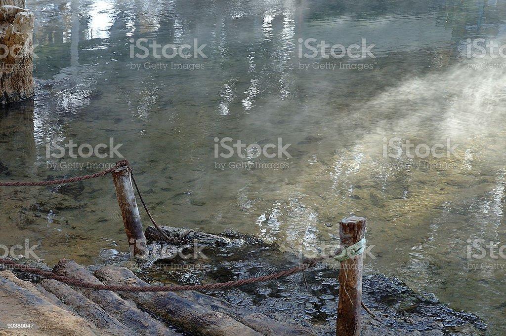 Ksar Ghilan - The warm spring water (Tunisia) royalty-free stock photo