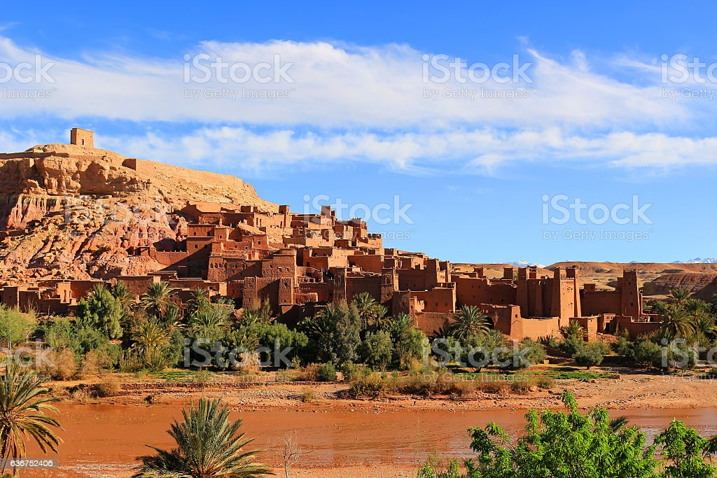 Ksar of Ait Benhaddou, Morocco stock photo