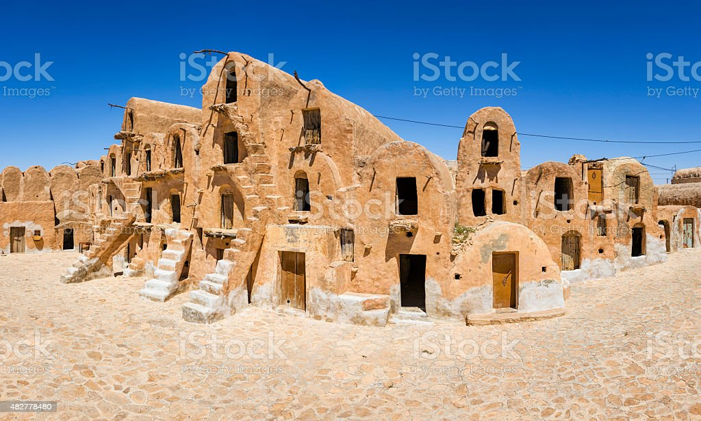 Ksar Ouled Soltane -  Tataouine district in southern Tunisia stock photo