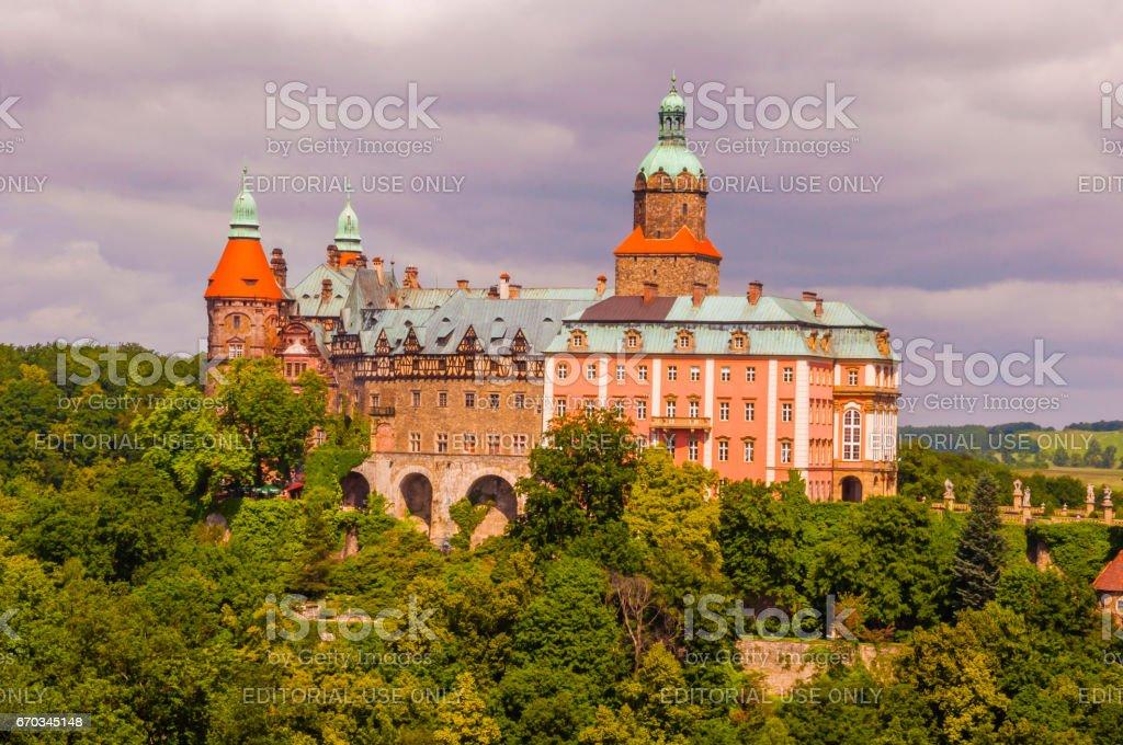 Ksiaz Castle in Walbrzych. stock photo