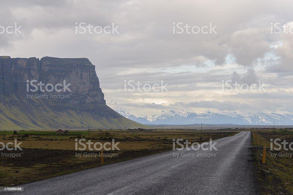 K?stenstrasse auf Island royalty-free stock photo